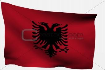 Albania 3D flag