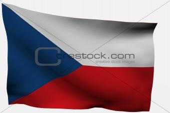 Czech Republic 3d flag