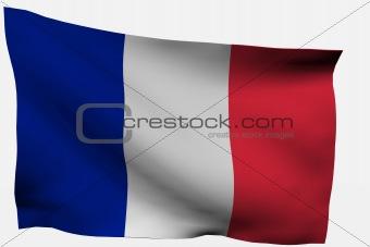 France 3D flag