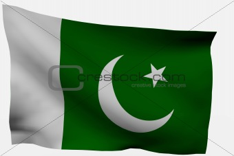 Pakistan 3d flag