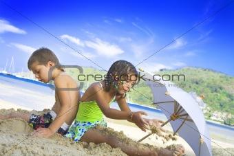 among the sand