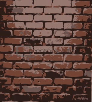 brick wall. Vector illustration