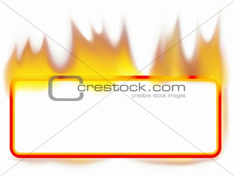 Fire Banner 01 - burning rectangle