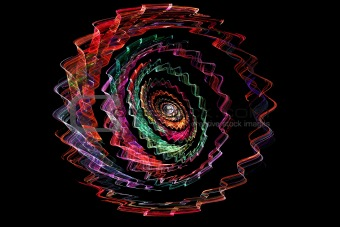 abstract color spiral