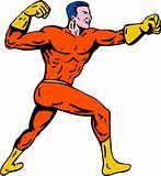 Superhero punching
