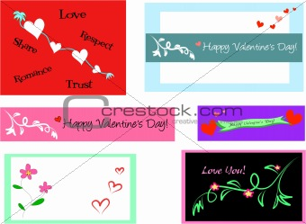 Six Valentine Cards for Creativity