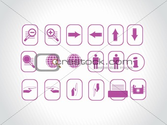 beautiful web icons, purple