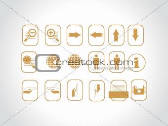 beautiful web icons, yellow