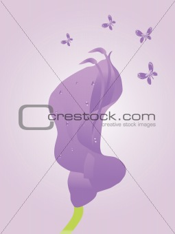 beautifull background with flower and butterfly design1