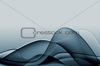 Grey abstract composition with flowing design