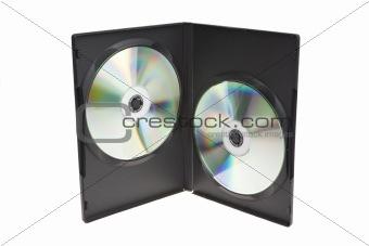 CD DVD holderon white background
