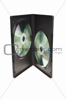 CD DVD holderon white background