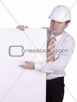 man with white background