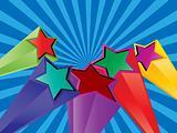 vintage 3d stars