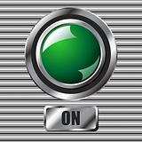 Green on button