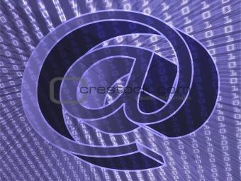 At internet symbol data transfer