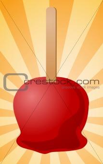 Candy apple illustration