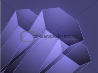 Abstract geometric hexagon design