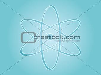 Atomic nuclear symbol scientific illustration of orbiting atom