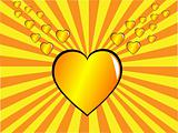 Gold Valentines Day Vector Illustration