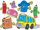 Cute school illustrations collection -
