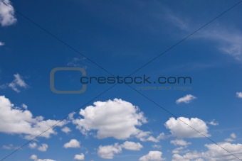 sky with white couds