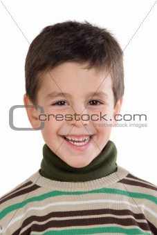Adorable child smiling