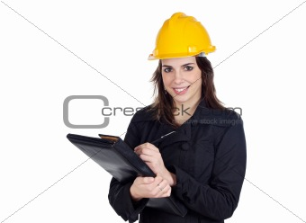 Attractive young engineer