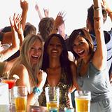 Group of women having fun at a bar
