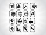 black icons set for website