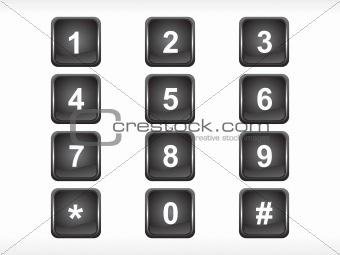 black squire number set