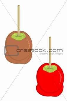 carmel and candy apples