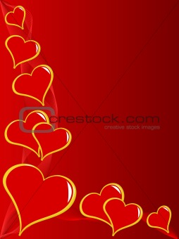 tred Hearts Valentines Day Background