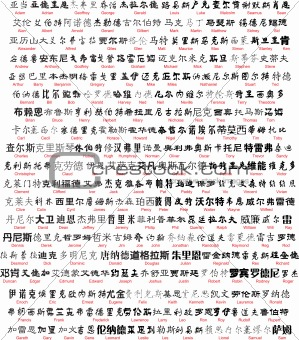 vector chinese writing with english translation