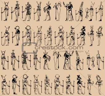 vector silhouette of egyptian
