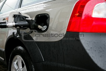 car on a filling station