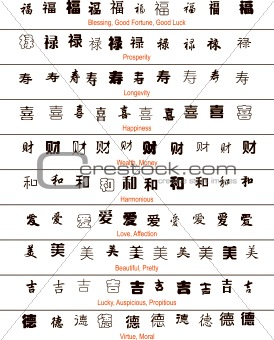 Chinese Symbols and Meanings in English