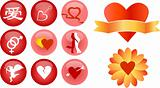 love and romance vector icons