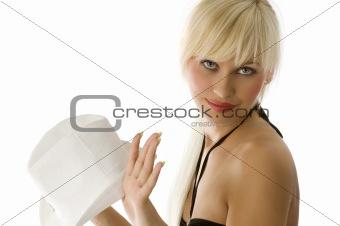 blond girl close up