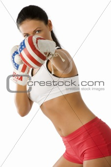 boxer brunette