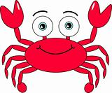Cute Looking Happy Crab