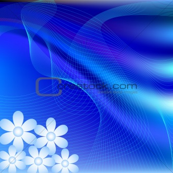 Abstract Daisy and wavy background