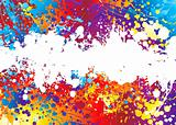 ink splat rainbow white