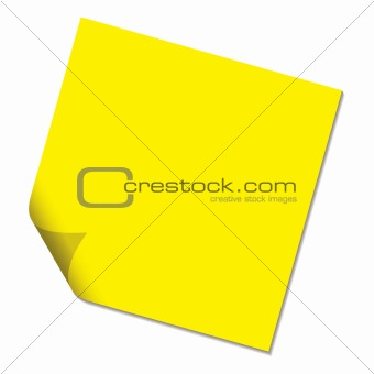 post it yellow drop shadow