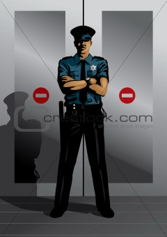 Profession set: security guard