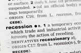 Dictionary definition of recession