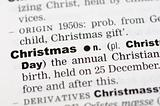 Dictionary definition of christmas