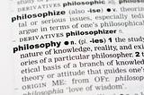 Dictionary definition of philosophy