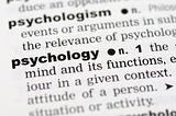 Dictionary definition of psychology