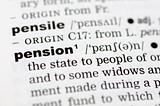 Dictionary definition of pension